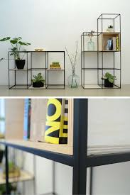 beautiful shelf built up symmetrically and made of fine steel and