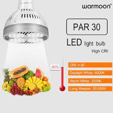warmoon par30 led light bulbs long neck e26 base 35w 3500lm 45