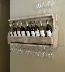 decorating white and beige wall ideas plus pallet wine rack