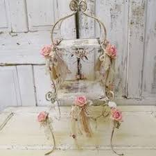 metal rose chandelier lighting shabby cottage chic pink rusty