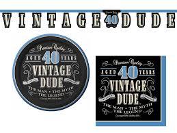 40th Bday Decorations Amazon Com Vintage Dude 40th Birthday Party Supplies Bundle 3