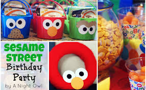 sesame birthday birthday bash a sesame party a owl