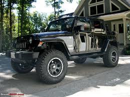 open jeep modified dabwali armada grand 4wd modifications team bhp
