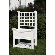Arbors And Trellises New England Arbors Kingsrow 36 In X 26 In White Vinyl Raised