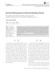 id e canap ap ro eccrine hidrocystoma of external ear canal pdf available
