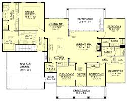 3 floor plan craftsman style house plan 4 beds 3 baths 2639 sq ft plan 430