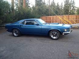 blue bronco car mustang 1969 fastback