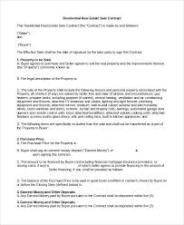 sample real estate sales contract 10 examples in pdf word