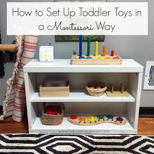 Montessori Bookshelves by Montessori Toddler Trays How Do You Set Up Toddler Toys In A