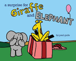 a surprise for giraffe and elephant giraffe and elephant are