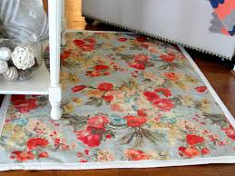 How To Make A Area Rug How To Make A Rug From Upholstery Fabric How Tos Diy