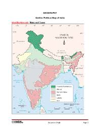 India Blank Outline Map by Solution Geography Outline Political Map Of India Studypool
