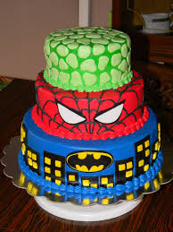 easy spiderman batman cakes ideas 550
