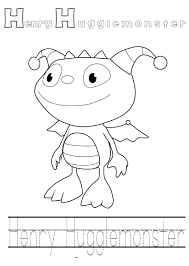 henry hugglemoster printable coloring pages kids coloring pages