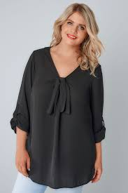 black pussybow blouse black bow blouse plus size 16 to 32