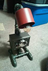 industrial machine age retro table desk lamp gamewell fire box