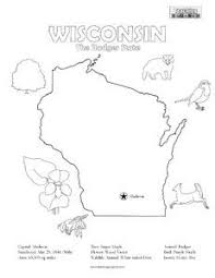 free wisconsin state printables homeschool geography