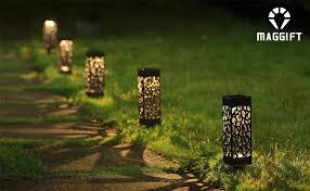 Garden Lights Maggift 8 Pcs Solar Powered Led Garden Lights