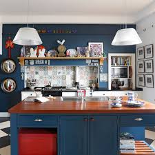 blue painted kitchen cabinet ideas navy kitchen ideas to add an element of rich colour and
