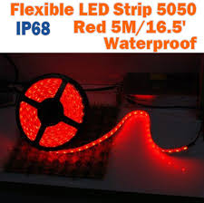 12 volt red led lights ip68 waterproof led strip 5050 tape light ribbon light outdoor