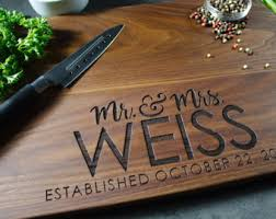 personalized cutting board wedding gift personalized wedding gift etsy