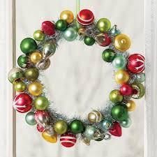 retro ornaments wreath vintage decor