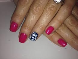 50 most stylish accent chevron nail art ideas