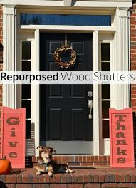 repurposed wood shutters sign for thanksgiving organized 31