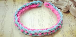 bracelet color bands images How to make bi color double rubber band bracelet by hand jpg