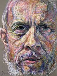 ode portrait indian oil pastel by josh bowe figurative drawing