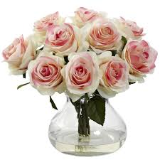 blooming confetti roses bouquet w vase water look assorted rose