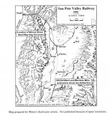 Utah Trax Map by Tufford U0027s San Pete Valley Ry