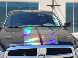 holographic car 2016 dodge ram 1500 with concept vinyl from vvivid vinyl black