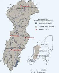 ohio river valley map ohio river basin