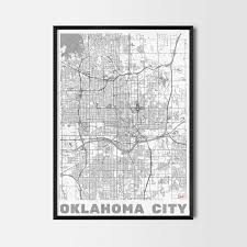 oklahoma gift map art prints and posters home decor gifts