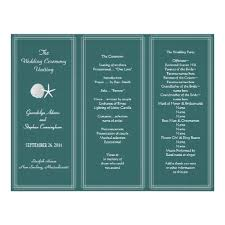 Tri Fold Wedding Programs 7 Best Images Of Three Fold Wedding Program Template Free