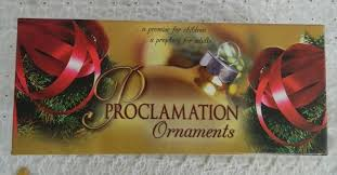 proclamation ornaments set worth finding ministries