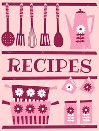 Retro Kitchen Accessories by Illustration Of Kitchen Accessories In Retro Style Recipe Card