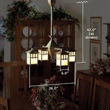 arts u0026 crafts style dining room lit with reproduction american