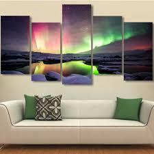 drop shipping 5 piece sunset sheep modern home wall decor canvas