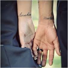 aww isn u0027t that sweet couple tatoos i love him i love her