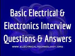 basic electrical u0026 electronics interview questions u0026 answers