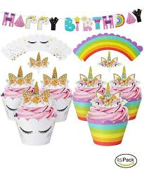 unicorn party supplies rebate key unicorn cupcake wrapper picks happy birthday