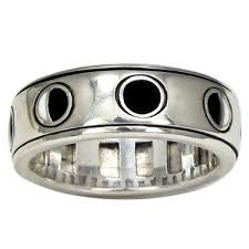 worry ring sterling silver enamel lunar moon phase spinner rotating worry ring
