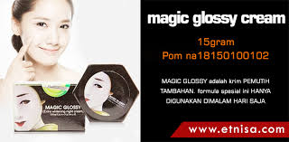 Wajah Magic Glosy efek sing dan bahaya magic glossy whitening palsu info