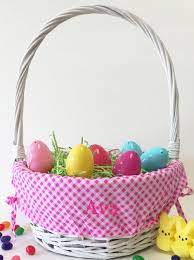 personalized easter basket personalized pink gingham easter basket