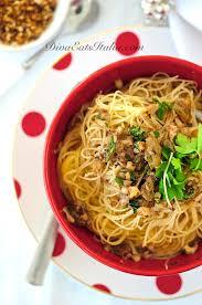 christmas eve pasta capellini w anchovy nuts u0026 raisins diva