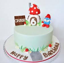 smurf birthday cake cake by emma cakesdecor