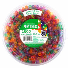 kids craft plastic pony beads translucent walmart com