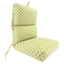 White Patio Cushions by Outdoor Universal Chair Cushion Green White Geometric Target
